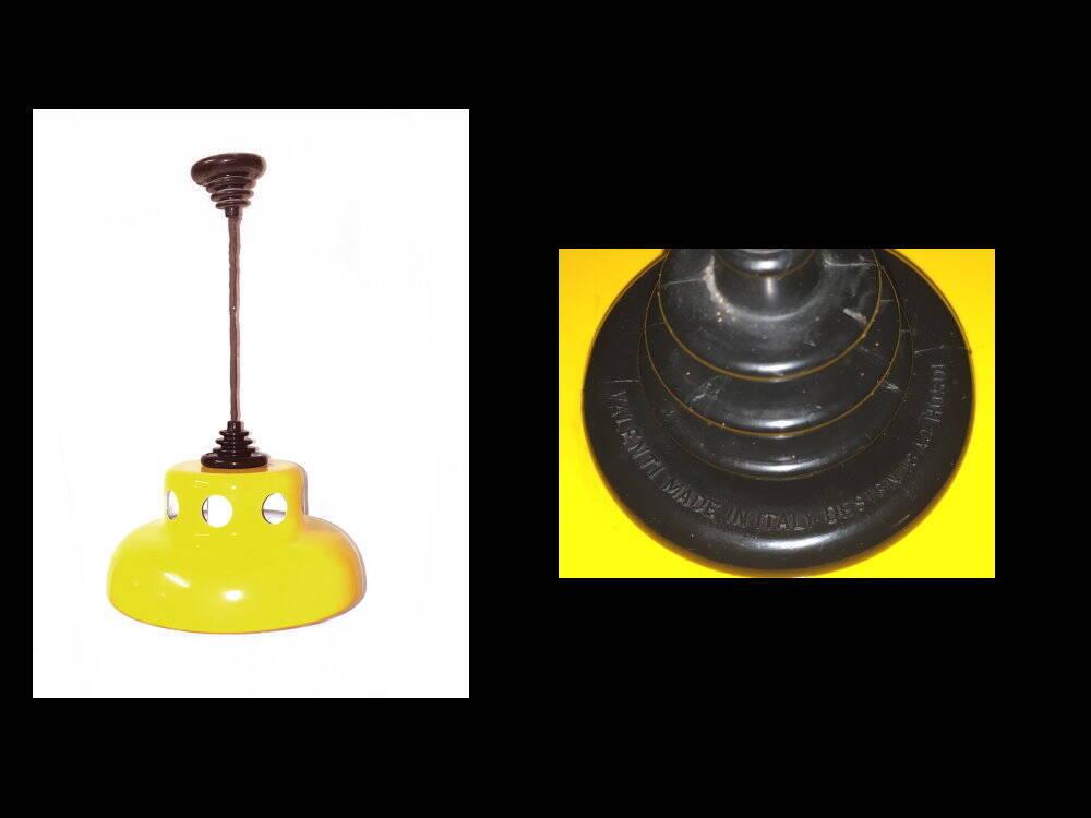 70 Jahre Deckenlampe gelb Valenti Italien Design