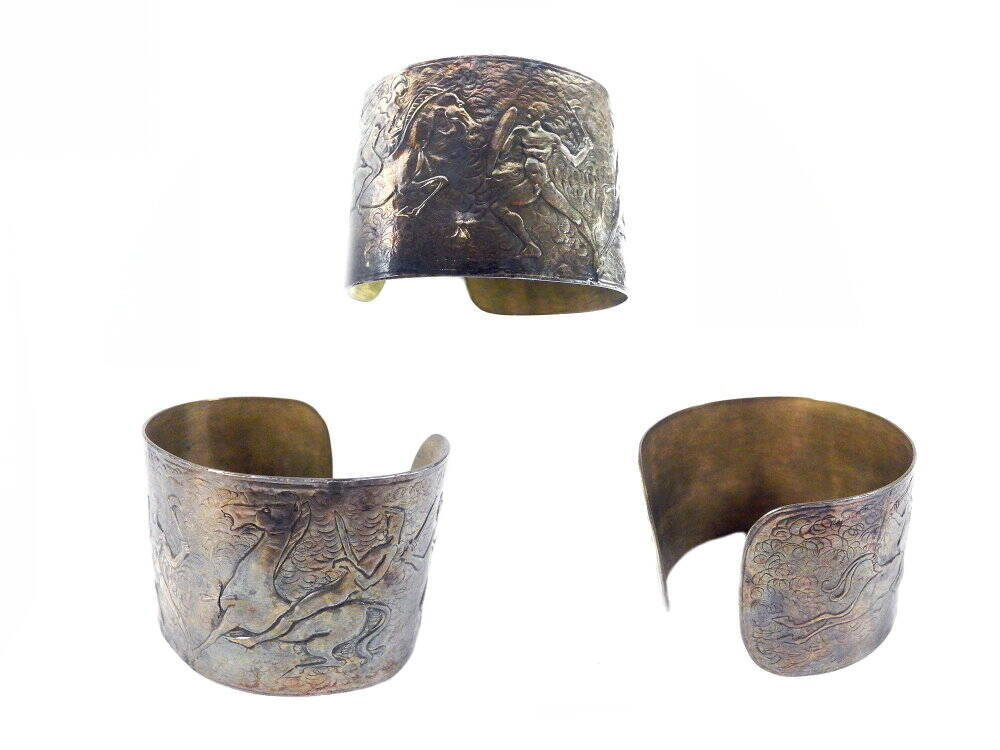 Silberarmreif mit keltischen Motiven - Replik