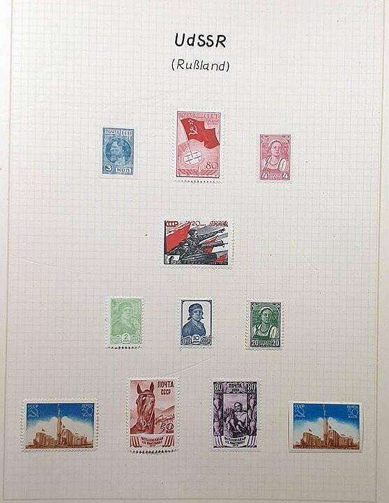 Briefmarken Deutsches Reich besetzte Ostgebiete Udssr Russland