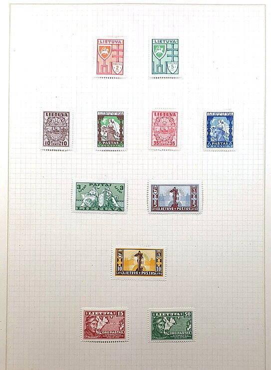 Briefmarken Deutsches Reich besetzte Ostgebiete Litauen Lietuva