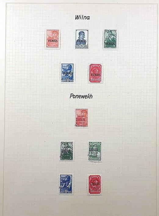 Briefmarken Deutsches Reich besetzte Ostgebiete Wilna Ponewesch Lietuva