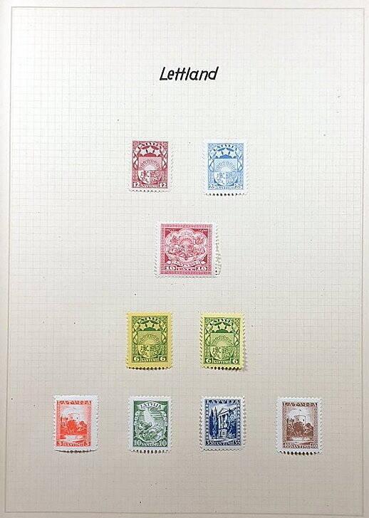 Briefmarken Deutsches Reich besetzte Ostgebiete Lettland Latvia