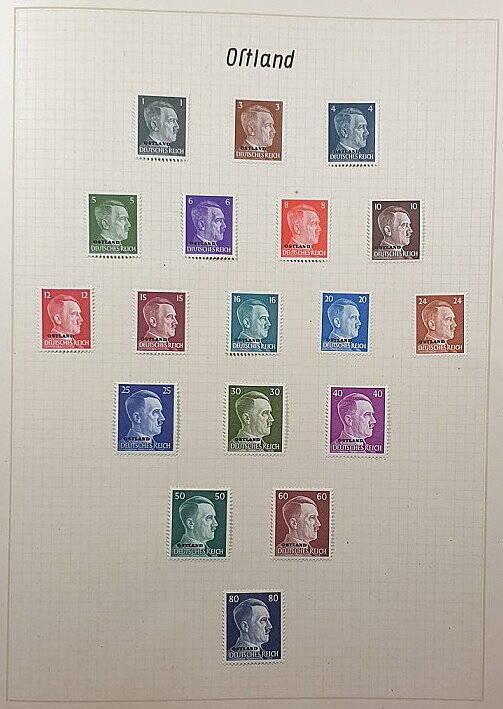 Briefmarken Deutsches Reich besetzte Ostgebiete Ostland