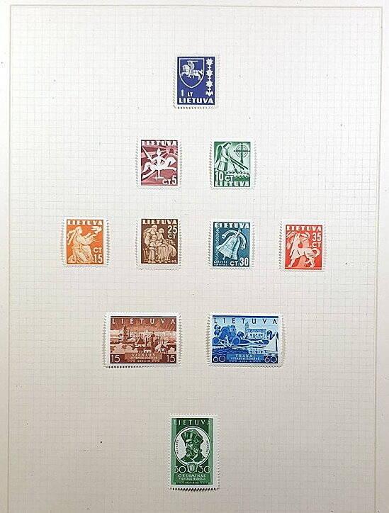 Briefmarken Deutsches Reich besetzte Ostgebiete Lietuva Litauen Russland