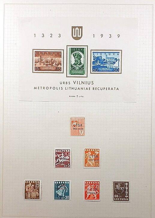 Briefmarken Deutsches Reich besetzte Ostgebiete Lietuva Litauen Russland LTSR