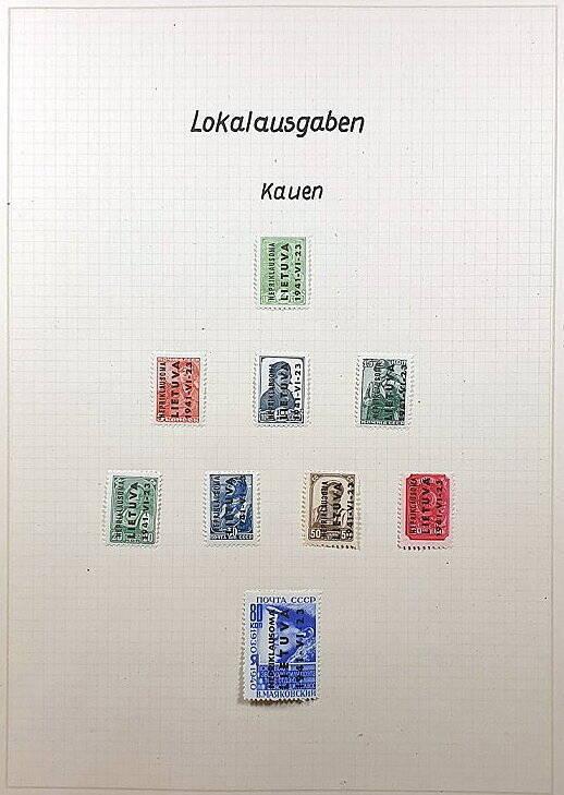 Briefmarken Deutsches Reich besetzte Ostgebiete Kauen Lietuva Russland