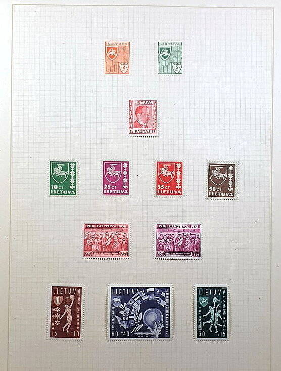 Briefmarken Deutsches Reich besetzte Ostgebiete Lietuva Litauen