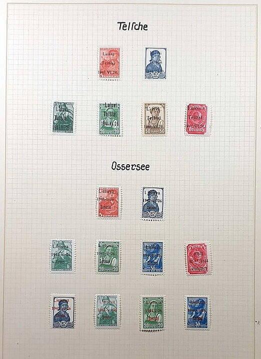 Briefmarken Deutsches Reich besetzte Ostgebiete Telsche und Ossersee