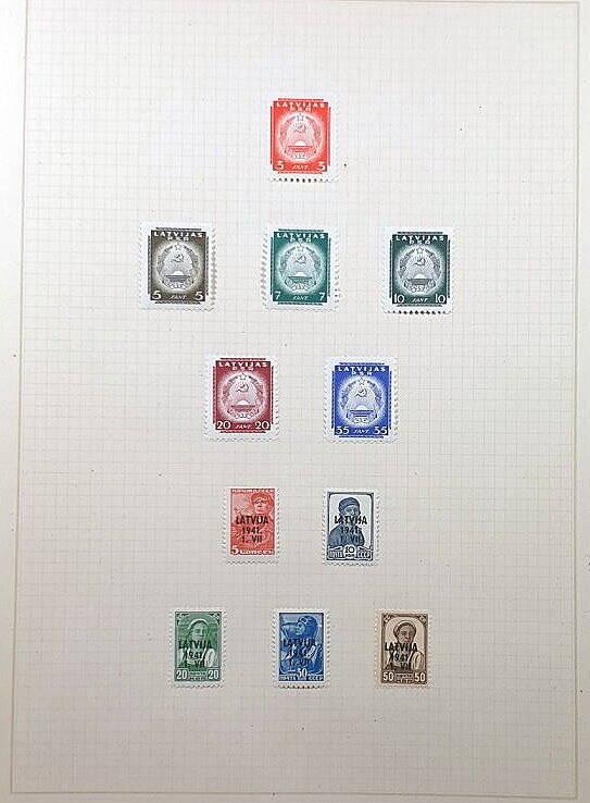 Briefmarken Deutsches Reich besetzte Ostgebiete Latvijas