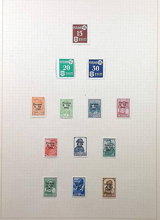 Briefmarken Deutsches Reich besetzte Ostgebiete Estland und Pernau