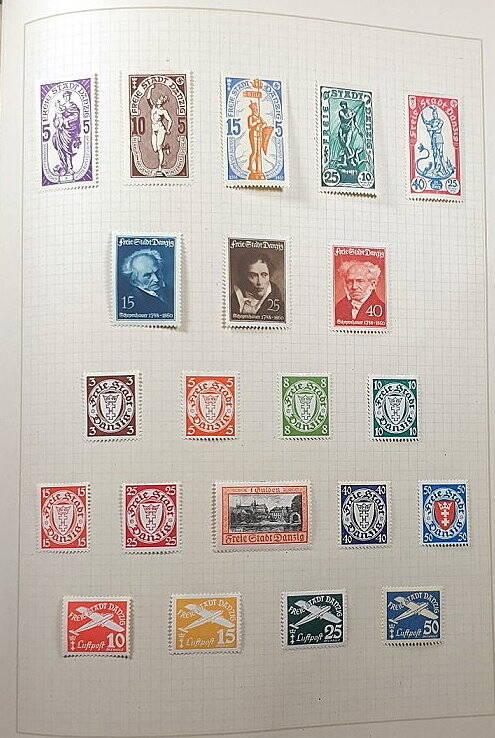 Briefmarken Deutsches Reich Danzig 1919 - 1939