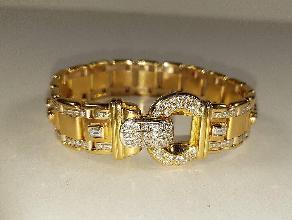 Damen Goldarmband mit 4,8 Karat Brillianten - 750 Gold/18 Karat