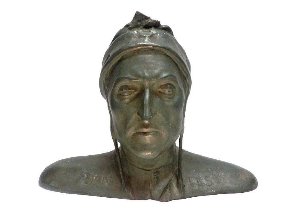 Dante Alighieri Büste, italienischer Dichter und Philosoph