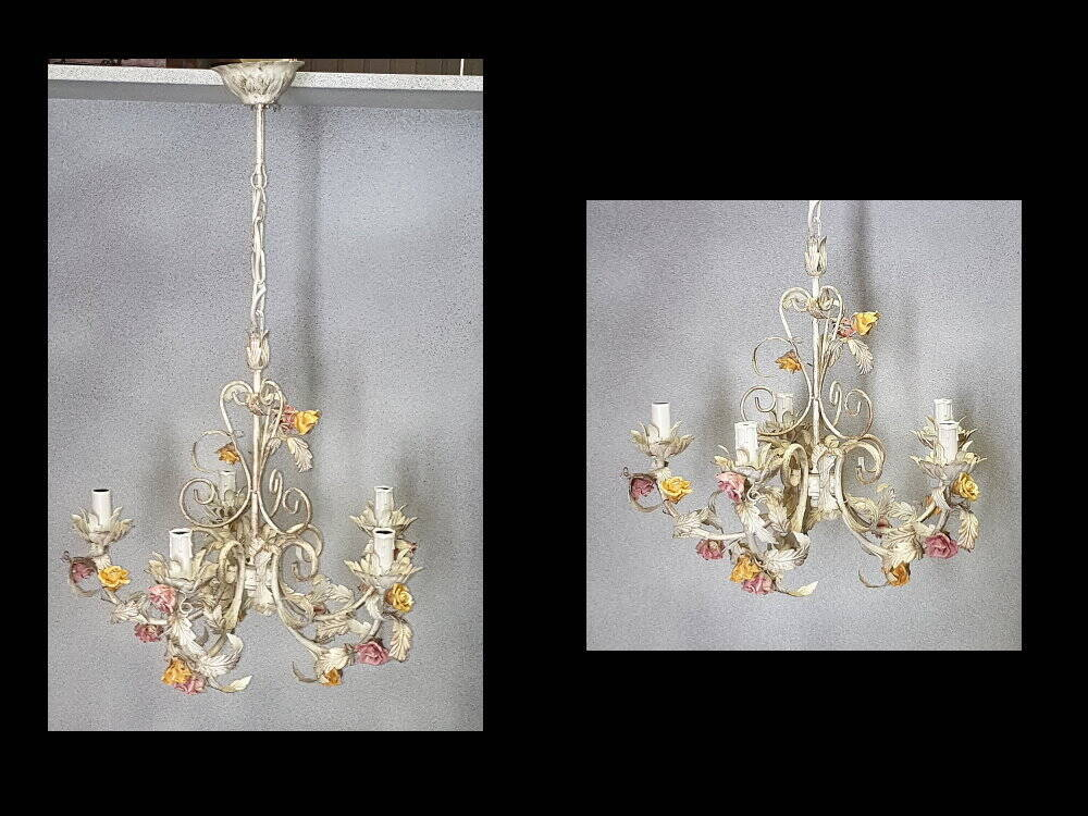 Deckenlampe, Blumen Dekor