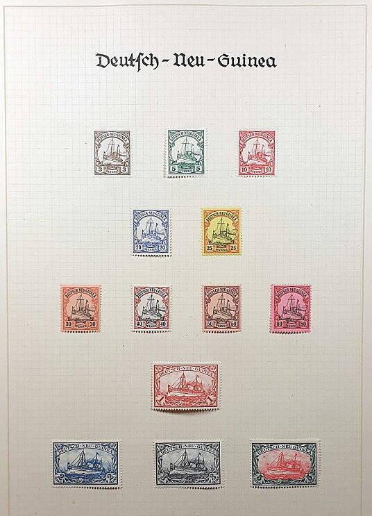 Deutsche Post im Ausland & Deutsche Kolonien Deutsch Neu Guinea Briefmarken Antiquitäten Lindlmaier