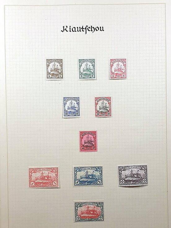 Deutsche Post im Ausland & Deutsche Kolonien Kiautschou Briefmarken Antiquitäten Lindlmaier