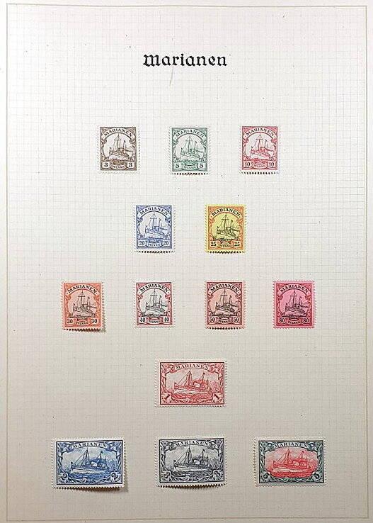 Deutsche Post im Ausland & Deutsche Kolonien Marianen Briefmarken Antiquitäten Lindlmaier