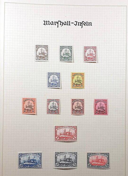 Deutsche Post im Ausland & Deutsche Kolonien Marschall Inseln Briefmarken Antiquitäten Lindlmaier