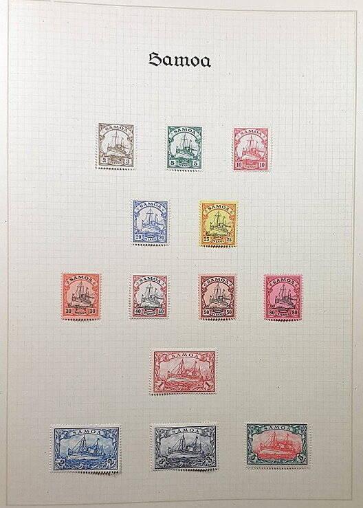 Deutsche Post im Ausland & Deutsche Kolonien Samoa Briefmarken Antiquitäten Lindlmaier