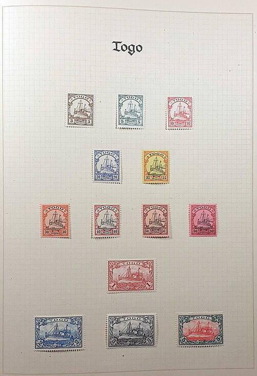 Deutsche Post im Ausland & Deutsche Kolonien Togo Briefmarken Antiquitäten Lindlmaier