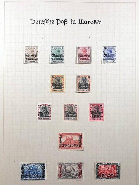 Deutsche Post im Ausland & Deutsche Kolonien Marokko Briefmarken Antiquitäten Lindlmaier