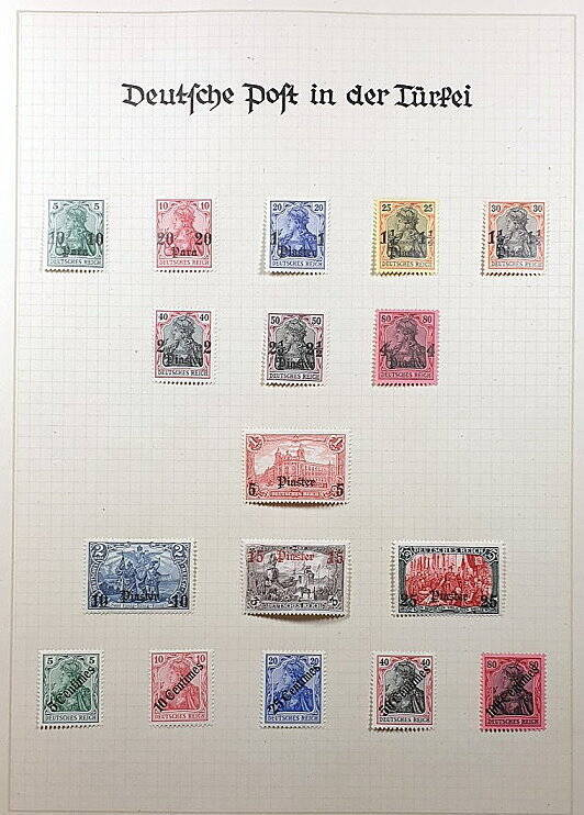 Deutsche Post im Ausland & Deutsche Kolonien Deutsche Post in der Türkei  Briefmarken Antiquitäten Lindlmaier