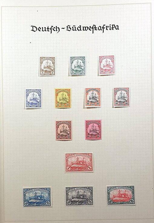 Deutsche Post im Ausland & Deutsche Kolonien Deutsch Südwestafrika Briefmarken Antiquitäten Lindlmaier