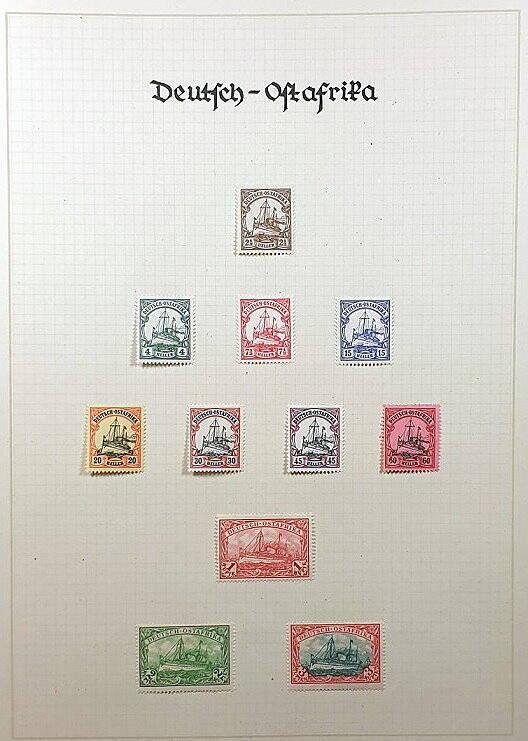 Deutsche Post im Ausland & Deutsche Kolonien Deutsch Ostafrika Briefmarken Antiquitäten Lindlmaier