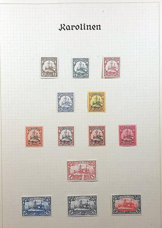Deutsche Post im Ausland & Deutsche Kolonien Karolinen Briefmarken Antiquitäten Lindlmaier