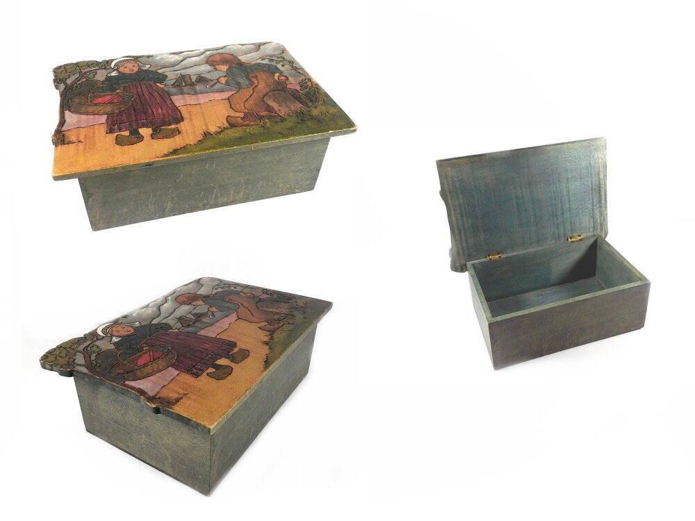 Holzdose Holland Handbemalt