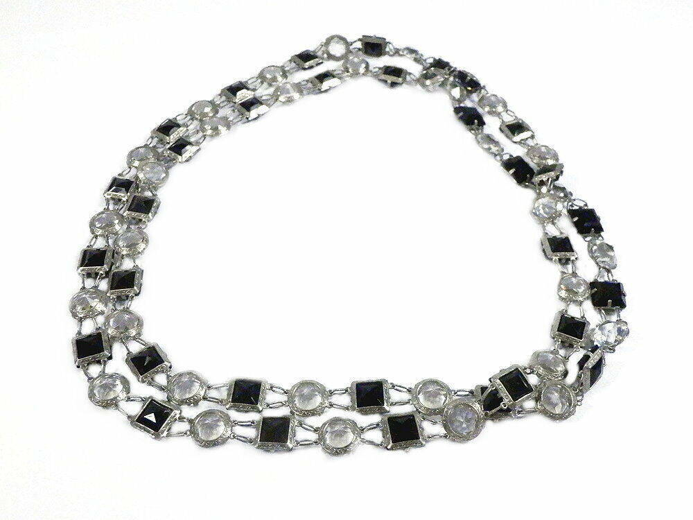 alte hochwertige Art Deko Glasschmuck Halskette der 30 Jahre