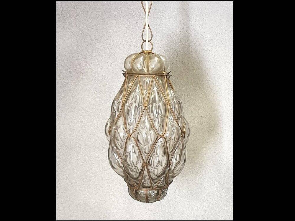 Jugendstil, Art Deko Deckenlampe Metallgeflecht