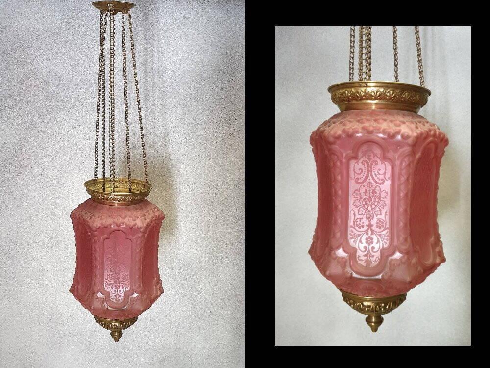 Jugendstil Seilzug Lampe Kerzenlampe