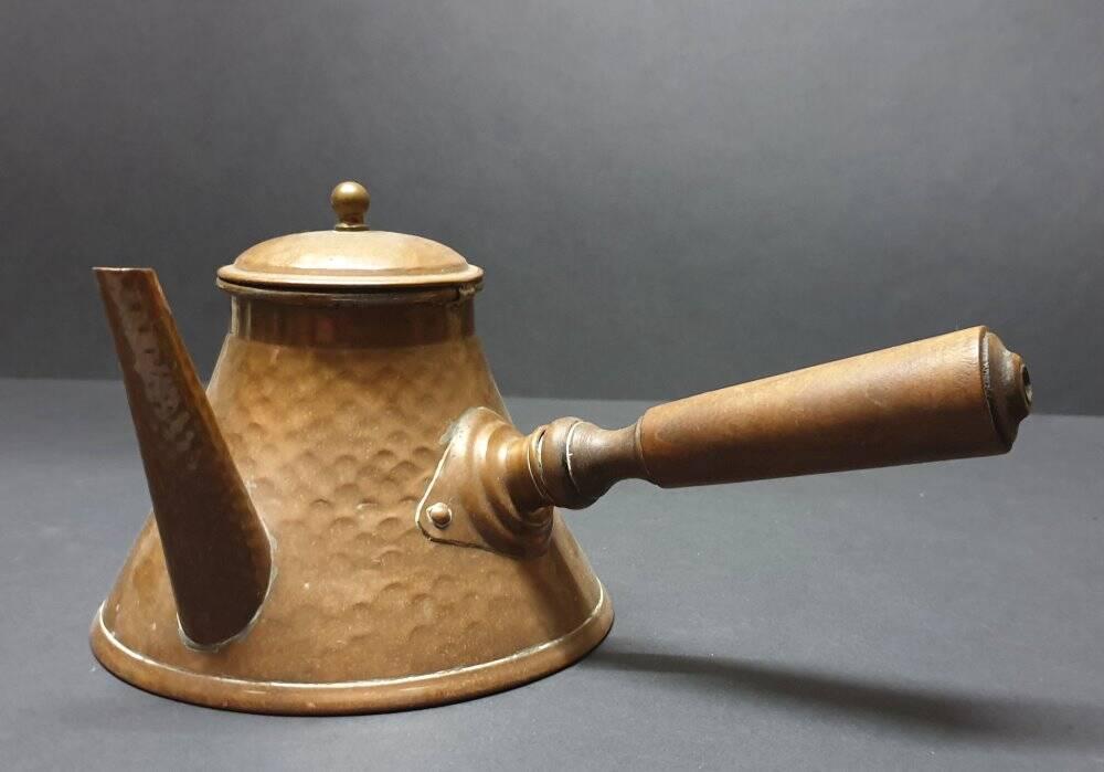 alte Villedieu Kupfer Teekanne