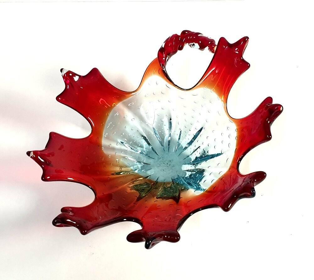 Murano Glasschale dreifarbig 60 Jahre
