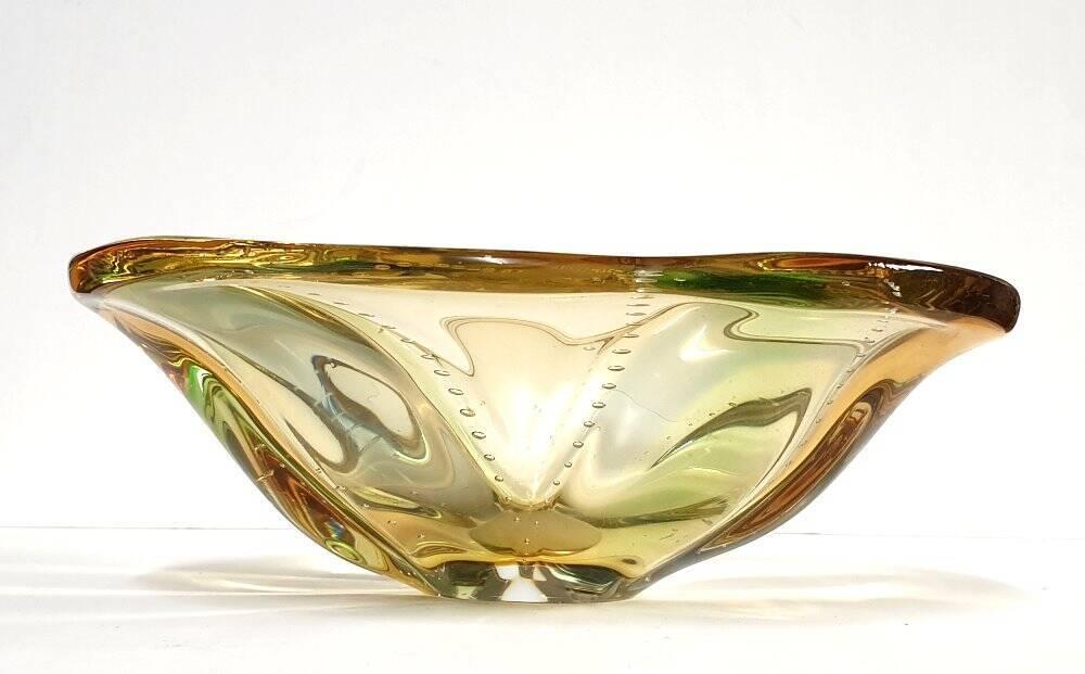 Murano Glasschale mehrfarbig 70 Jahre