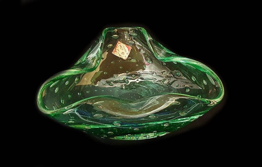 Murano Schale, Aschenbecher grün Antiquitäten