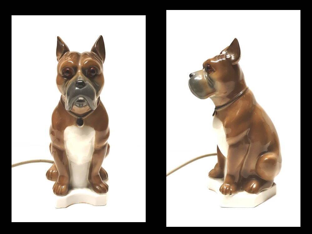 Rauchverzehrer Porzellan Boxer Hund