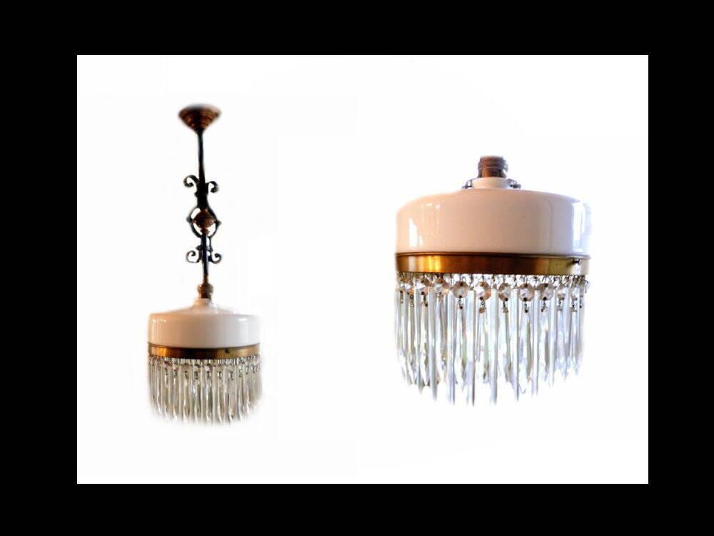 Milchglas Lampe Deckenlampe Glastropfen