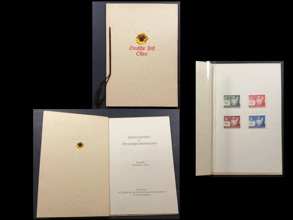 Deutsches Reich Reichspost Briefmarken Deutsche Post im Osten Generalgouvernement Polen