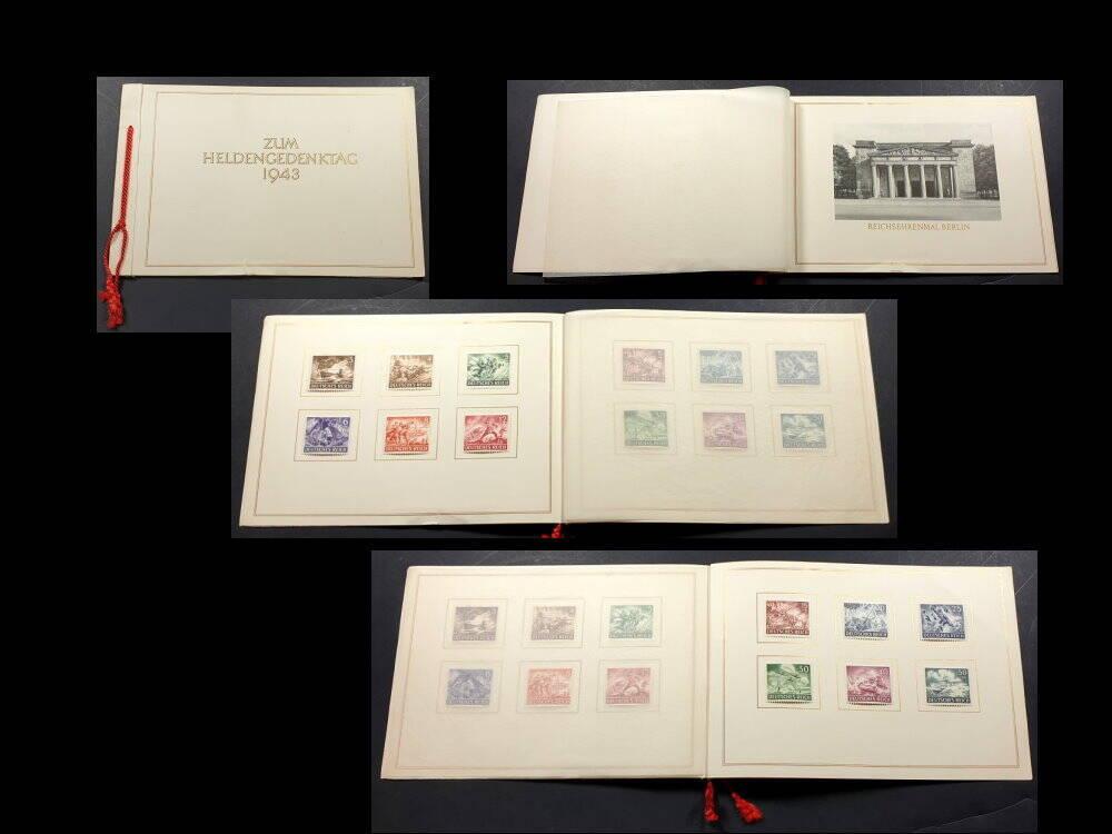 Deutsches Reich Sondermarken Heldengedenktag 1943  im Umschlag der Reichspost