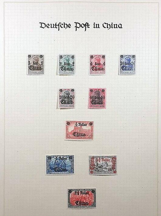 Deutsche Post im Ausland & Deutsche Kolonien China Briefmarken Antiquitäten Lindlmaier
