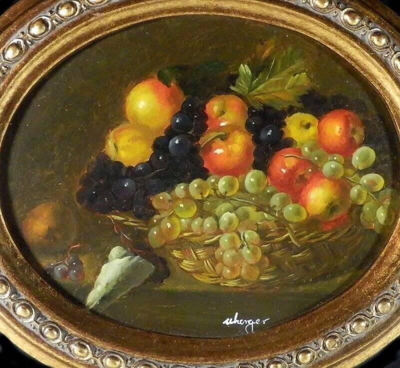 Stilleben Früchtebild vo Uherger