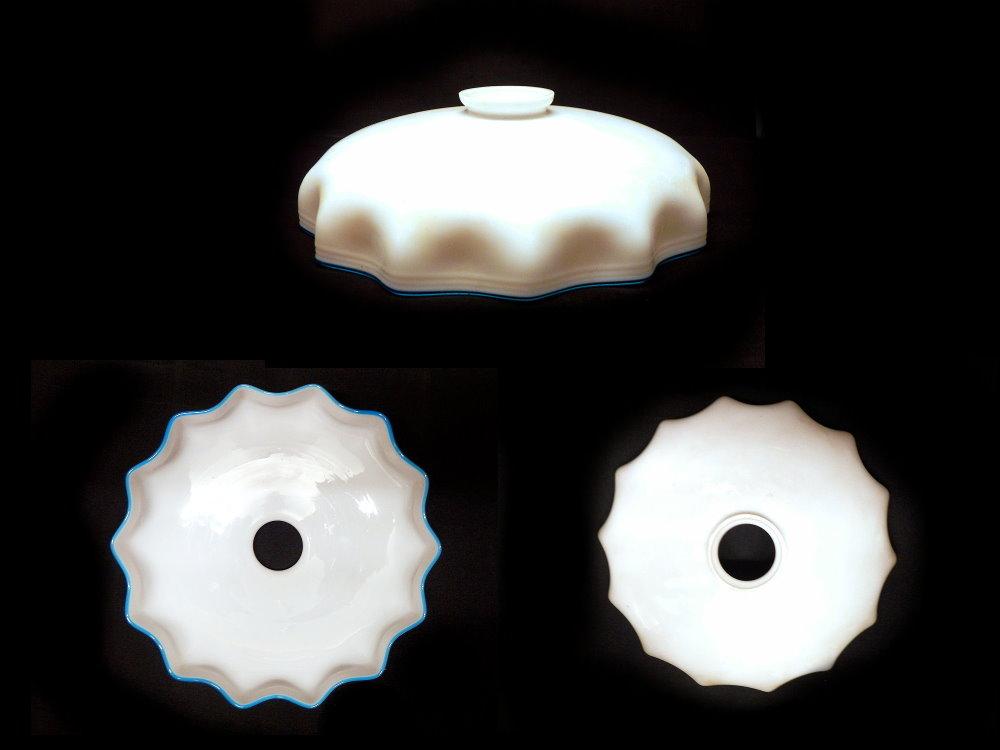 alter Milchglas Lampenschirm