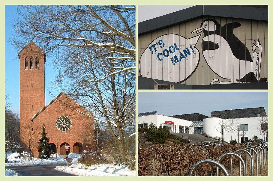 Heilig-Geist-Kirche - Eishalle - Nettebad