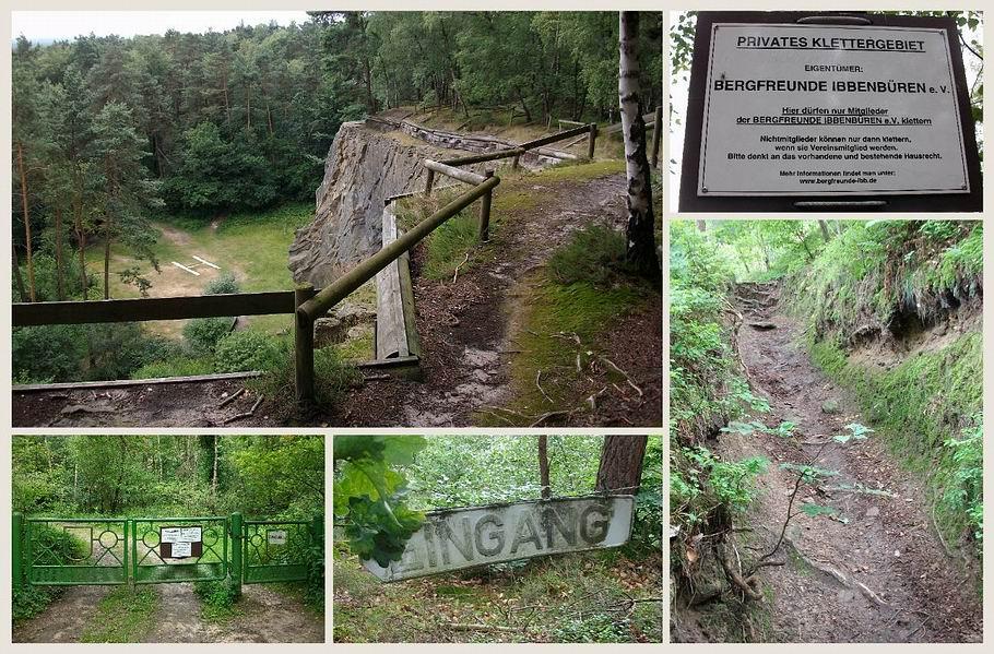 Brumleytal - Privates Klettergebiet in altem Steinbruch