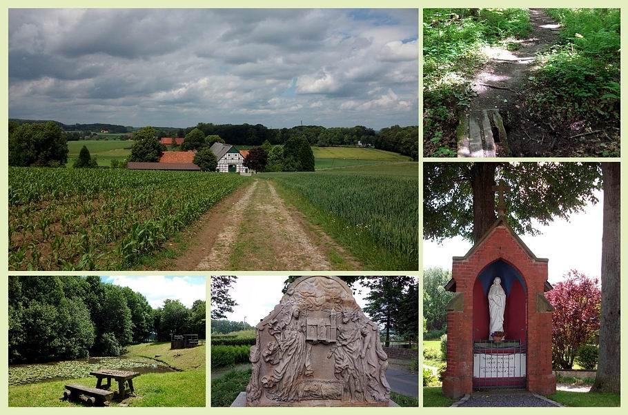 """Georgsmarienhütte - Kloster Oesede - Gedenkstein auf der """"Hohen Linde"""" - Marienteich"""