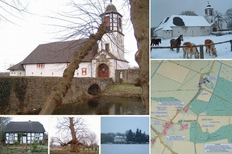Wasserburg Alt Barenaue und Ortschaft (Bramsche)