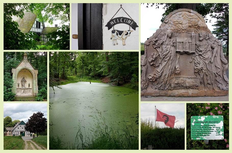 """Georgsmarienhütte - Kloster Oesede - Gedenkstein auf der """"Hohen Linde"""""""