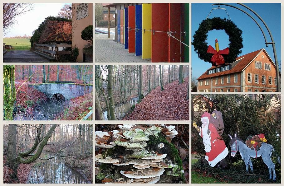 Schledehausen: Mühle - Waldbad - Wierau - Weihnachten